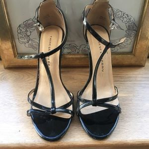 Black Sandal Heels Stilettos